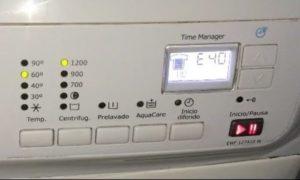 Стиральная машина Электролюкс - ошибка E40